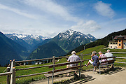 Hikers in the Austrian Alps