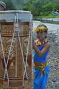 Drum, Omoa village, Fatu Hiva, Marquesas, French Polynesia, (Editorial use only, no model release)<br />