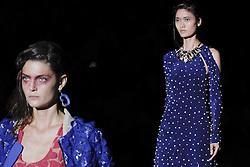 September 17, 2016 - Madrid, Madrid, Spain - Models  walk  Turing Ana Locking Fashion Show at Madrid Fashion Week Spring/Summer 2017/18 at Ifema, on September 17, 2016, in Madrid, Spain  (Credit Image: © Oscar Gonzalez/NurPhoto via ZUMA Press)