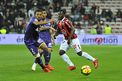March 15, 2019 - Nice, France - Ignatius Ganago (OGC Nice) - Kelvin Adou Amian  (Credit Image: © Panoramic via ZUMA Press)