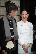 HELENA RIZZO; ELENA ARZAK;, Veuve Clicquot World's Best Female chef champagne tea party. Halkin Hotel. Halkin St. London SW1. 28 April 2014.