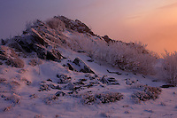 Winter at Rozsypaniec Peak, Bieszczady National Park, Poland