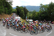 Peloton and landscape during the 105th Tour de France 2018, Stage 13, Bourg d'Oisans - Valence (169,5 km) on July 20th, 2018 - Photo Luca Bettini / BettiniPhoto / ProSportsImages / DPPI