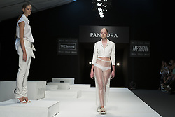 September 12, 2016 - Madrid, Madrid, Spain - Parade the Pandora in MFSHOW 2016 women held at the Museum of Costume in Madrid, on September 12, 2016. (Credit Image: © Oscar Gonzalez/NurPhoto via ZUMA Press)