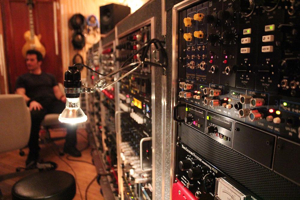 Johnny Pisano in the studio