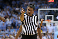 01 December 2015: Referee Pat Driscoll. The University of North Carolina Tar Heels hosted the University of Maryland Terrapins at the Dean E. Smith Center in Chapel Hill, North Carolina in a 2015-16 NCAA Division I Men's Basketball game. UNC won the game 89-81.
