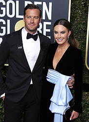 75th Annual Golden Globes. 07 Jan 2018 Pictured: Armie Hammer, Elizabeth Chambers. Photo credit: MEGA TheMegaAgency.com +1 888 505 6342