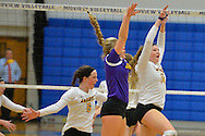 Avon High School vs St. Joseph Academy High School girls varsity volleyball on Oct. 29, 2015. Images © David Richard and may not be copied, posted, published or printed without permission.<br /> @DavidRichardPix
