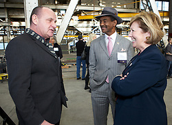 CSI actor and Blu Homes Advisor, Paul Guilfoyle, City of  Vallejo Mayor Osby Davis and Solano County Board of Supervisors representative, Linda Seifert  were on hand as Blu Homes opened their West Coast factory on Mare Island in Vallejo, California Dec. 1, 2011.  Over 400 guests attended a ribbon cutting ceremony at the 250,000-square-foot facility.