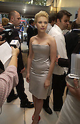 """Scarlett Johansen  at the UK Premiere of """"The Island"""" at the Odeon Leicester Square, London. 7 August 2005. , ONE TIME USE ONLY - DO NOT ARCHIVE  © Copyright Photograph by Dafydd Jones 66 Stockwell Park Rd. London SW9 0DA Tel 020 7733 0108 www.dafjones.com"""