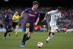 May 12, 2019 - Barcelona, Spain - Sergi Roberto and Olivera during the match between FC Barcelona angd Getafe, corresponding to the round 37 of the Liga Santander, played at the Camp Nou Stadium, on 12th May 2019, in Barcelona, Spain. (Credit Image: © Joan Valls/NurPhoto via ZUMA Press)