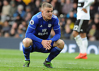 Football - 2018 / 2019 Premier League - Fulham vs. Cardiff City<br /> <br /> Danny Ward of Cardiff can't believe they have not scored, at Craven Cottage.<br /> <br /> COLORSPORT/ANDREW COWIE