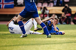 September 2, 2017 - Tampere, Finland - Finland's Tim Sparv and Iceland's Alfred Finnbogason during the FIFA World Cup 2018 Group I football qualification match between Finland and Iceland in Tampere, Finland, on September 2, 2017. (Credit Image: © Antti Yrjonen/NurPhoto via ZUMA Press)