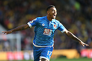 GOAL - Josh King of Bournemouth celebrates after scoring his sides 2nd goal . Premier league match, Watford v AFC Bournemouth at Vicarage Road in Watford, London on Saturday 1st October 2016.<br /> pic by John Patrick Fletcher, Andrew Orchard sports photography.