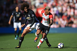 23 September 2017 -  Premier League - Southampton v Manchester United - Mario Lemina of Southampton in action with Marouane Fellaini of Manchester United - Photo: Marc Atkins/Offside
