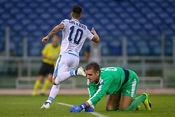 September 20, 2018 - Rome, Lazio, Italy - 20th September 2018, Stadio Olimpico, Rome, Italy; UEFA Europa League football, Lazio versus Apollon Limassol; Luis Alberto of Lazio celebrates after scoring a gol in the 14th minute  Credit: Giampiero Sposito/Pacific Press (Credit Image: © Giampiero Sposito/Pacific Press via ZUMA Wire)