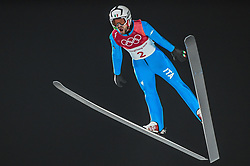 February 10, 2018 - Pyeonchang, Gangwon, South Korea - Federico Cecon of Italy at mens normal hill final at 2018 Pyeongchang winter olympics at Alpensia Ski Jumping Centre, Pyeongchang, South Korea on February 10, 2018. Ulrik Pedersen/Nurphoto  (Credit Image: © Ulrik Pedersen/NurPhoto via ZUMA Press)
