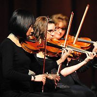 LIVERMORE, CA - DECEMBER 11:  of Las Positas College preforms during the Orchestra & Wind Ensemble Concert at Las Positas College on December 1, 2011 in Livermore, California.