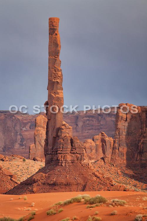 Totem Pole in Monument Valley Navajo Tribal Park