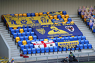 Banners in stand of New Plough Lane during the EFL Sky Bet League 1 match between AFC Wimbledon and Bristol Rovers at Plough Lane, London, United Kingdom on 5 December 2020.