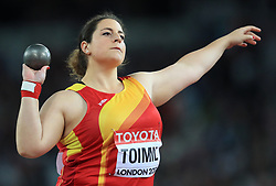 Spain's Maria Belan Toimil in the Women's Shot Put group A during day five of the 2017 IAAF World Championships at the London Stadium.