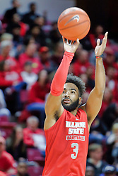 NORMAL, IL - October 12: Keyshawn Evans during Illinois State Athletics Hoopfest on October 12 2018 at Redbird Arena in Normal, IL. (Photo by Alan Look)