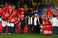 Tour d'honneur des anciens joueurs de Monaco    - 14.12.2014 - Monaco / Marseille - 18eme journee de Ligue1<br />Photo : Manu Blondeau / Icon Sport