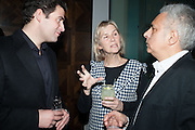 Zafar Rushdie; Phillipa Walker; Hanif Kureishi, Liberatum Cultural Honour  for John Hurt, CBE in association with artist Svetlana K-Lié.  Spice Market, W London - Leicester Square