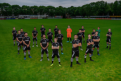 "Photoshoot of the selection 2020-2021, under 23 of VV Maarssen with the Corona rule ""1.5 meters away"" on 16 June 2020, sports park Daalseweide in Maarssen."