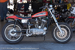 Harley-Davidson XR-750 at the Vintage road races at New Hampshire Motor Speedway during Laconia Motorcycle Week. Laconia, NH, USA. June 14, 2015.  Photography ©2015 Michael Lichter.