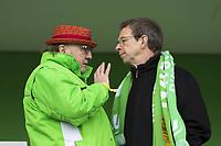 BILDET INNGÅR IKKE I FASTAVTALER. ALL NEDLASTING BLIR FAKTURERT.<br /> <br /> Fotball<br /> Tyskland<br /> 20.02.2016<br /> Foto: imago/Digitalsport<br /> NORWAY ONLY<br /> <br /> Fußball, Allianz Frauen Bundesliga, VfL Wolfsburg - FC Bayern München; v.l. VfL-Sponsor und Klaus Mohrs (Oberbürgermeister Stadt Wolfsburg). xtgx