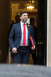 Downing Street, London, February 11th 2016. Wales Secretary Stephen Crabb leaves the weekly cabinet meeting. <br /> ©Paul Davey<br /> FOR LICENCING CONTACT: Paul Davey +44 (0) 7966 016 296 paul@pauldaveycreative.co.uk