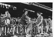 The Winning Kerry team receiving the Sam Maguire Cup after the All Ireland Senior Gaelic Football Championship Final Kerry v Dublin at Croke Park on the 22nd September 1985. Kerry 2-12 Dublin 2-08.