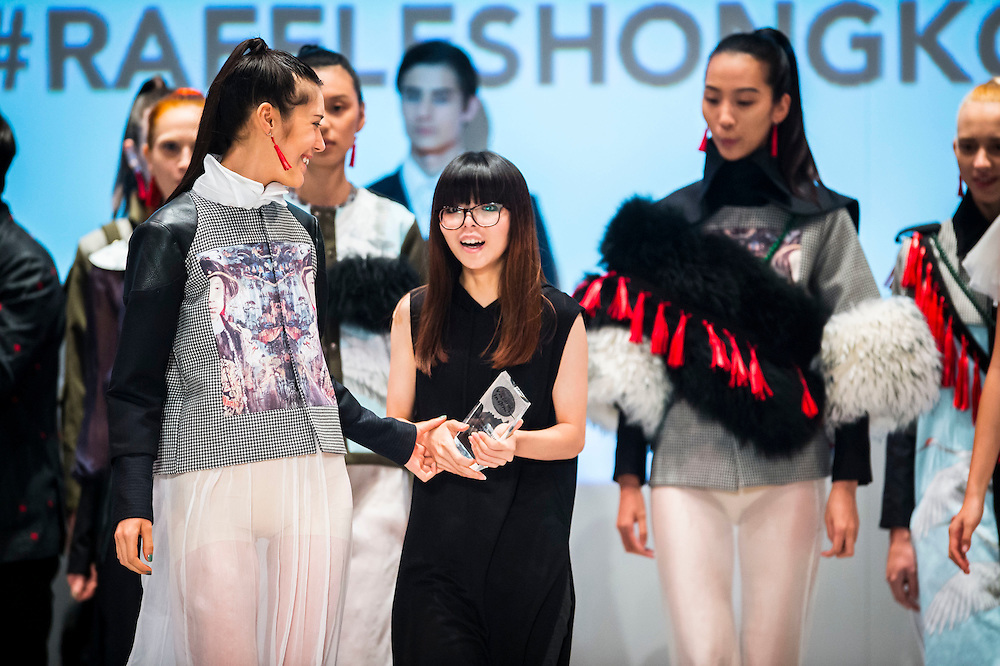 Award Ceremony during the Visceral Instinct show by Raffles Hong Kong as part of the Fashion Week for Spring / Summer 2015 at the Hong Kong Convenition and Exhibition Centre on 08 July 2015 in Hong Kong, China. Photo by Aitor Alcalde / illume visuals