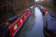 A083W0 Narrow boats Somerset Coal canal Limpley Stoke near Bath England