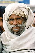 Old man wearing traditional turban in India