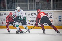 9# Cepon Kristjan HK SZ Olimpija Ljubljana during ice hockey match between HK SIJ Acroni Jesenice and HK SZ Olimpija in Round #12 of Alps Hockey League 2018/19 , on October 27, 2018 in Podmezakla hall , Jesenice, Slovenia. Photo by Urban Meglic / Sportida