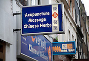 Chinese medicine shop, Chinatown, Soho, London, England