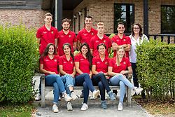 Team Horseball Belgium <br /> Boven : , Wesemael Stijn, Van Severen Anton, Cool Robin, Augustyns Michael, Van Herreweghe Axel, chef d'equipe, Cobbaut Hilde<br /> Onder :  Costers Charlotte, Buyle Taazanna, Goldschmith Natasha, Antheunis Valerie, De Ridder Ninke<br /> Team Belgium Horseball Male Elite 2019<br /> © Hippo Foto - Dirk Caremans<br /> 06/08/2019