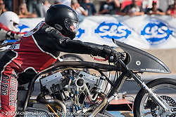 Son of Silence top fuel drag racer in the finals at the Stugis Dragway during the Annual Sturgis Black Hills Motorcycle Rally. Sturgis, SD, USA. Monday August 7, 2017. Photography ©2017 Michael Lichter.
