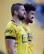 Hurricanes Ardie Savea & Dane Coles. Super Rugby Aotearoa. Hurricanes v Crusaders, Sky Stadium, Wellington. Sunday 11th April 2021. Copyright photo: Grant Down / www.photosport.nz