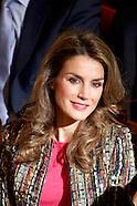 110513 Princess Letizia attends Conference against Gender Violence