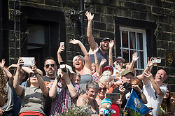 Spectators in Haworth during day four of the Tour de Yorkshire from Halifax to Leeds.