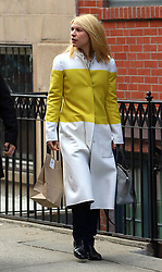 March 23, 2016 - New York City, NY, USA - Actress Claire Danes left her house in Greenwich Village to appear in the play 'Dry Powder' at the Public Theatre on March 23 2016 in New York City  (Credit Image: © Zelig Shaul/Ace Pictures via ZUMA Press)