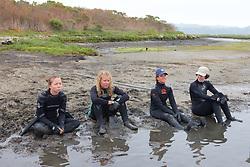 Katie, Stephanie, Melissa & Jemima Waiting For AnimalsTo Be Captured