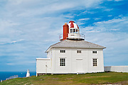 Historic lighthouse on most easterly point in North America<br /> Cape Spear National Historic Site of Canada<br /> Newfoundland <br /> Canada