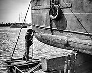 Ghent, Belgium, 6 may 2011, Reparation of a ship at Ketels ship repair.