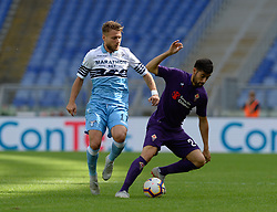 October 7, 2018 - Rome, Italy - Ciro Immobile, German Pezzella during the Italian Serie A football match between S.S. Lazio and Fiorentina at the Olympic Stadium in Rome, on october 07, 2018. (Credit Image: © Silvia Lore/NurPhoto/ZUMA Press)