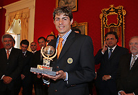 20090528: FUNCHAL, PORTUGAL Ð Nacional Madeira striker Nene receives the Golden Ball, after scoring 20 goals on the Portuguese League 2008/2009. Nene is being followed by SL Benfica, FC Porto, Arsenal, Lyon, AS Roma and Hamburg, among other teams. In picture: Nene . <br />PHOTO: Octavio Passos/CITYFILES