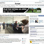 """Screengrab of """"US security at Shannon Airport"""" published in The New York Times"""